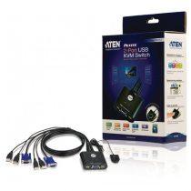 ATEN KVM Switch 2PC USB CS22U+Kábel