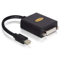 Delock 65098 fekete adapter mini displayport apa > DVI 24+5 pin anya