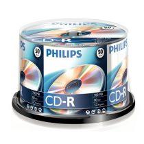Philips CD-R80CB 52x cake box lemez 50db/csomag