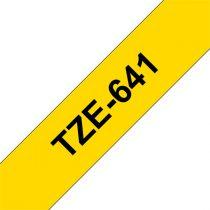 """BROTHER szalag TZe-641, Sárga alapon Fekete, Laminált, 18mm  0.7"""", 8 méter"""
