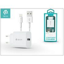 Devia ST300363 Smart 2,1A univerzális fehér hálózati töltő