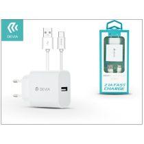 Devia ST301124 Smart 2,1A Type-C fehér hálózati töltő