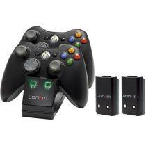 Venom VS2891 Xbox 360 fekete dupla töltőállomás + 2db akkumulátor
