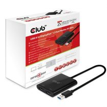 CLUB3D SenseVision USB A - DisplayPort 1.2 Dual Monitor