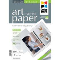 """COLORWAY Fotópapír, ART series, fényes hűtőmágnes (ART glossy """"magnetic""""), 690 g/m2, A4, 5 lap"""
