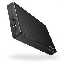 """Axagon EE35-XA3 USB 3.0 fekete külső alumínium 3,5"""" HDD ház"""