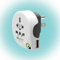 Q2 Power Q2WUS-USB Világ - USA USB utazó adapter