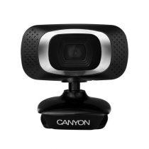 CANYON Webkamera CWC3N, 720p HD , USB 2.0 csatlakozással, fekete-ezüst