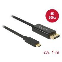 Delock 85255 1 méter USB Type-C apa > DisplayPort apa (DP váltakozó mód) 4K fekete kábel