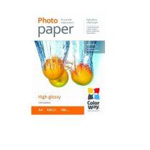 COLORWAY Fotópapír, magasfényű (high glossy), 180 g/m2, A4, 100 lap