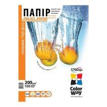 COLORWAY Fotópapír, magasfényű (high glossy), 200 g/m2, 13x18, 100 lap