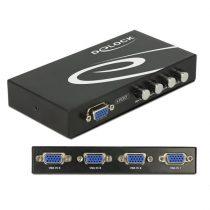 Delock 4 portos manuális, kétirányú VGA-kapcsoló