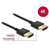 DELOCK kábel HDMI male/male összekötő 3D 4K Slim Premium, 2m