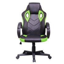 Iris GCH205BE fekete / zöld gamer szék