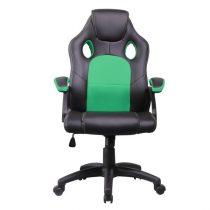 Iris GCH102BE fekete / zöld gamer szék