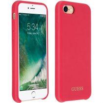 Guess szilikon, iPhone 8 Plus piros/arany logós szilikon tok