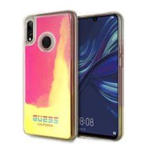 Guess California Huawei Psmart sötétben világító pink homok tok