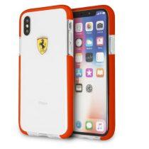 Ferrari iPhone X átlátszó/piros kemény fényes tok