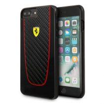 Ferrari SF Pit Stop iPhone 7 Plus valódi karbon kemény fekete tok