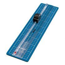 DAHLE Papírvágó 350, beépített vonalzóval, A4, 3 lap (70gr) - (Firm cutting mat and ruler with integrated cutter)