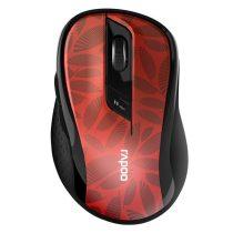 "Rapoo ""M500"" Bluetooth piros vezeték nélküli optikai egér"