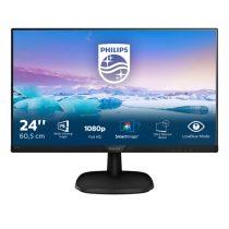 """PHILIPS IPS monitor 23,8"""" 243V7QDSB, 1920x1080, 16:9, 250cd/m2, 4ms, 75Hz, VGA/DVI-D/HDMI"""