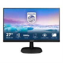 """PHILIPS IPS monitor 27"""" 273V7QDSB, 1920x1080, 16:9, 250cd/m2, 4ms, 75Hz, VGA/DVI-D/HDMI"""