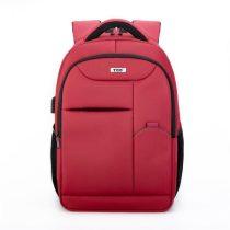 """TOO 15,6"""" lopásbiztos/USB portos piros hátizsák"""