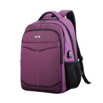 """TOO 15,6"""" USB portos lila hátizsák"""