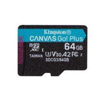 Kingston 64GB SD micro Canvas Go! Plus (SDXC Class 10  UHS-I U3) (SDCG3/64GBSP) memória kártya