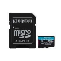 Kingston 256GB SD micro Canvas Go! Plus (SDXC Class 10 UHS-I U3) (SDCG3/256GB) memória kártya adapterrel