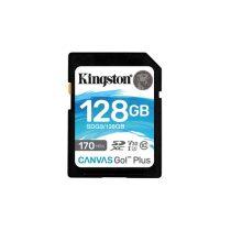 Kingston 128GB SD Canvas Go Plus (SDXC Class 10 UHS-I U3) (SDG3/128GB) memória kártya