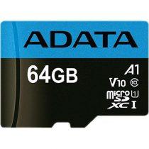 ADATA Memóriakártya MicroSDXC 64GB + Adapter UHS-I CL10 (100/25)