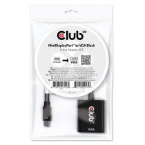 CLUB3D Mini Displayport - D-Sub fekete aktív adapter