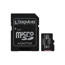 KINGSTON Memóriakártya MicroSDXC 64GB Canvas Select Plus 100R A1 C10 + Adapter