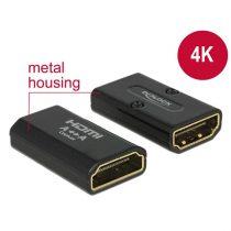 DELOCK Átalakító HDMI-A female to HDMI-A female 4K Gender Changer, fekete