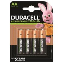 Duracell 4db AA 2500 ujratoltheto elem