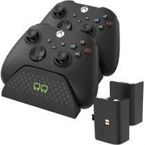 Venom VS2881 Xbox Series X & S fekete dupla töltőállomás + 2 db akkumulátor