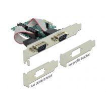 DELOCK PCI-E Bővítőkártya 2x Soros RS-232 port