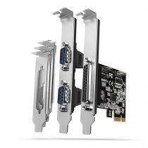 Axagon PCEA-PSN 1 db párhuzamos portos 2 db soros portos 1 sávos PCI-Express kártya
