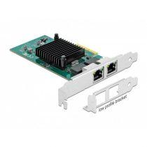 DELOCK PCI-E x4 Vezetékes hálózati Adapter, 2x Gigabit LAN i82576