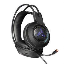 OMEGA sztereó gaming fejhallgató, VARR, USB, 2x jack, RGB, fekete