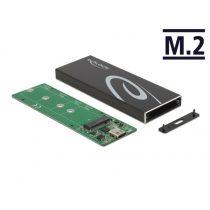 DELOCK Külső Ház M.2 SATA SSD USB Type-C female