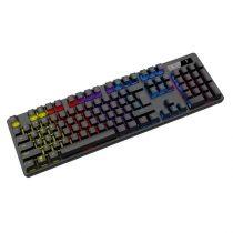 OMEGA gamer billentyűzet, VARR VMK89B, mechanikus, multimédiás, 9 féle üzemmód, RGB, XINDA BLUE, fekete