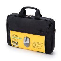 """DICOTA Notebook táska egérrel D30805-V1, Value Toploading Kit-bag 15.6"""" with mouse including, Black"""
