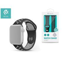Devia ST325014 Apple Watch fekete/szürke szilikon sport óraszíj