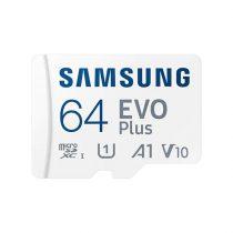 Samsung 64GB SD micro EVO Plus (SDXC Class10) (MB-MC64KA/EU) memória kártya adapterrel