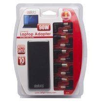 Delight Univerzális 90W laptop/notebook töltő adapter tápkábellel